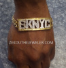 "Custom 10K Gold ""BK NYC"" Bracelet"